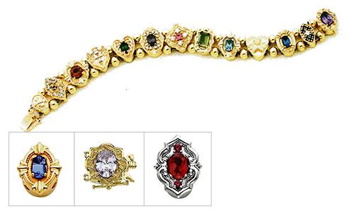 victorian slide bracelets
